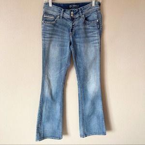 Silver suki flap jeans light wash 28 x 32 inseam